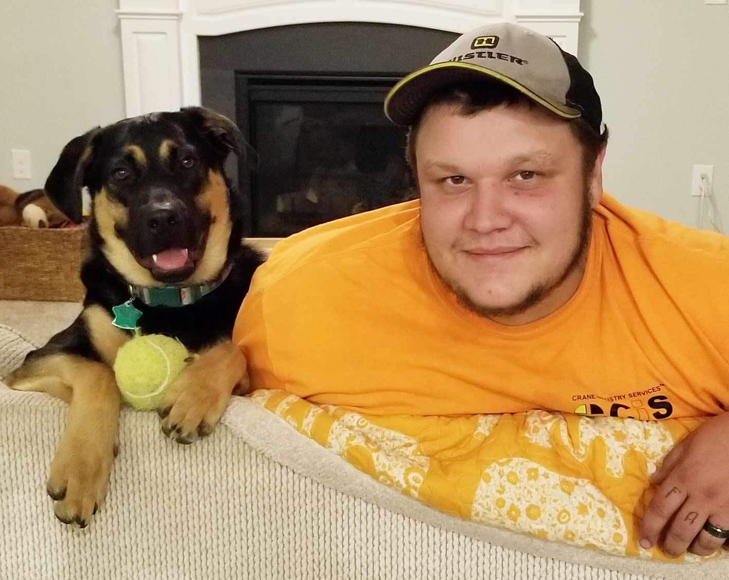 Mack the Rottweiler and our President, Alex MacLeod